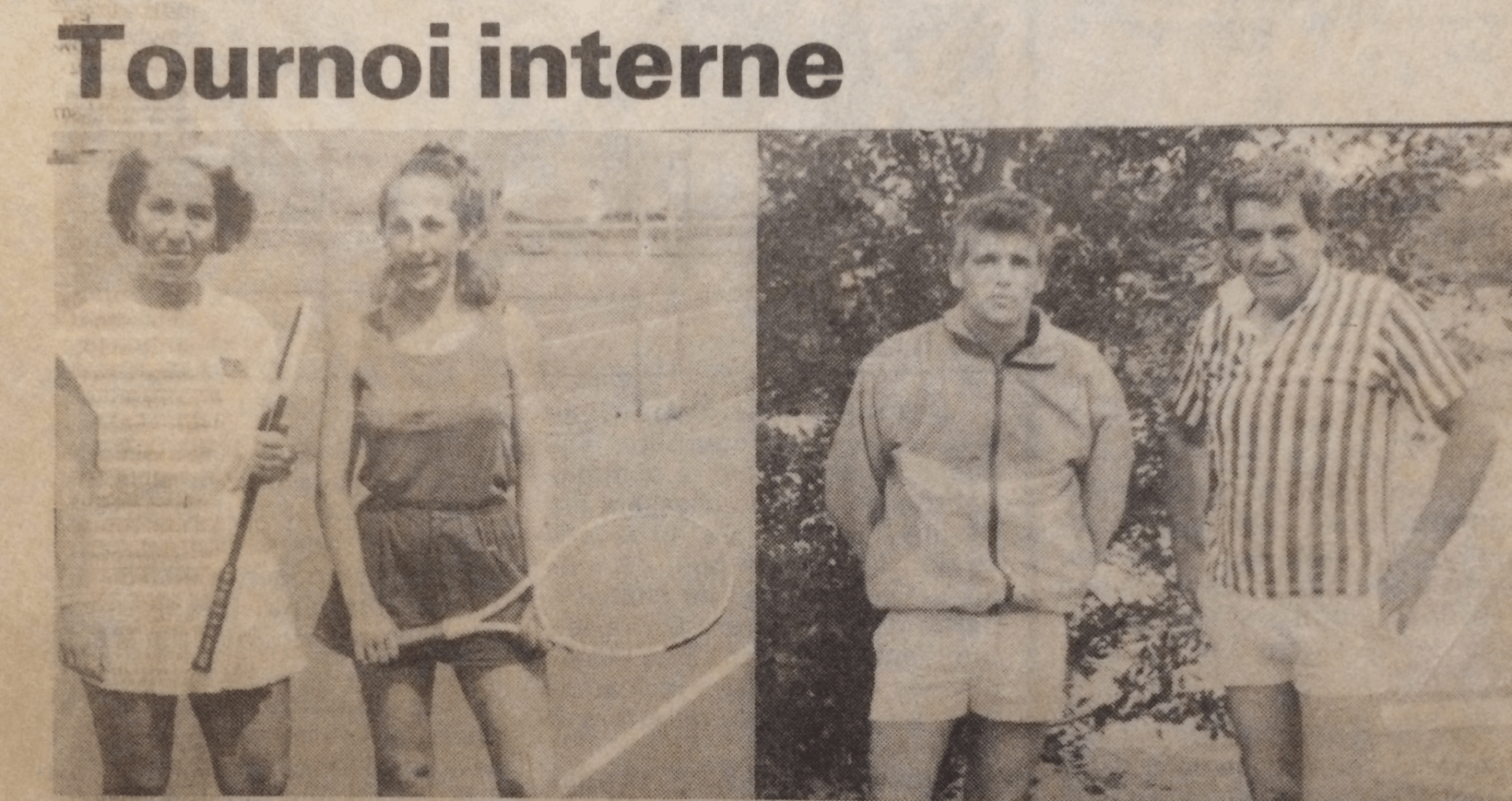 Tournoi interne 1986 - Tennis Club de Pierre Bénite