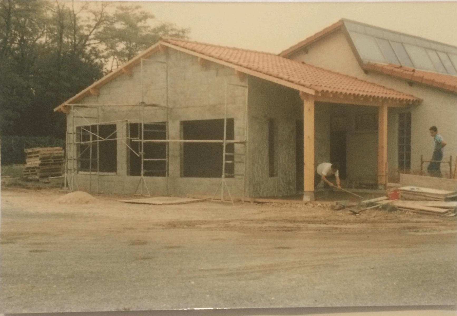 Travaux août 1987 - Tennis Club de Pierre Bénite