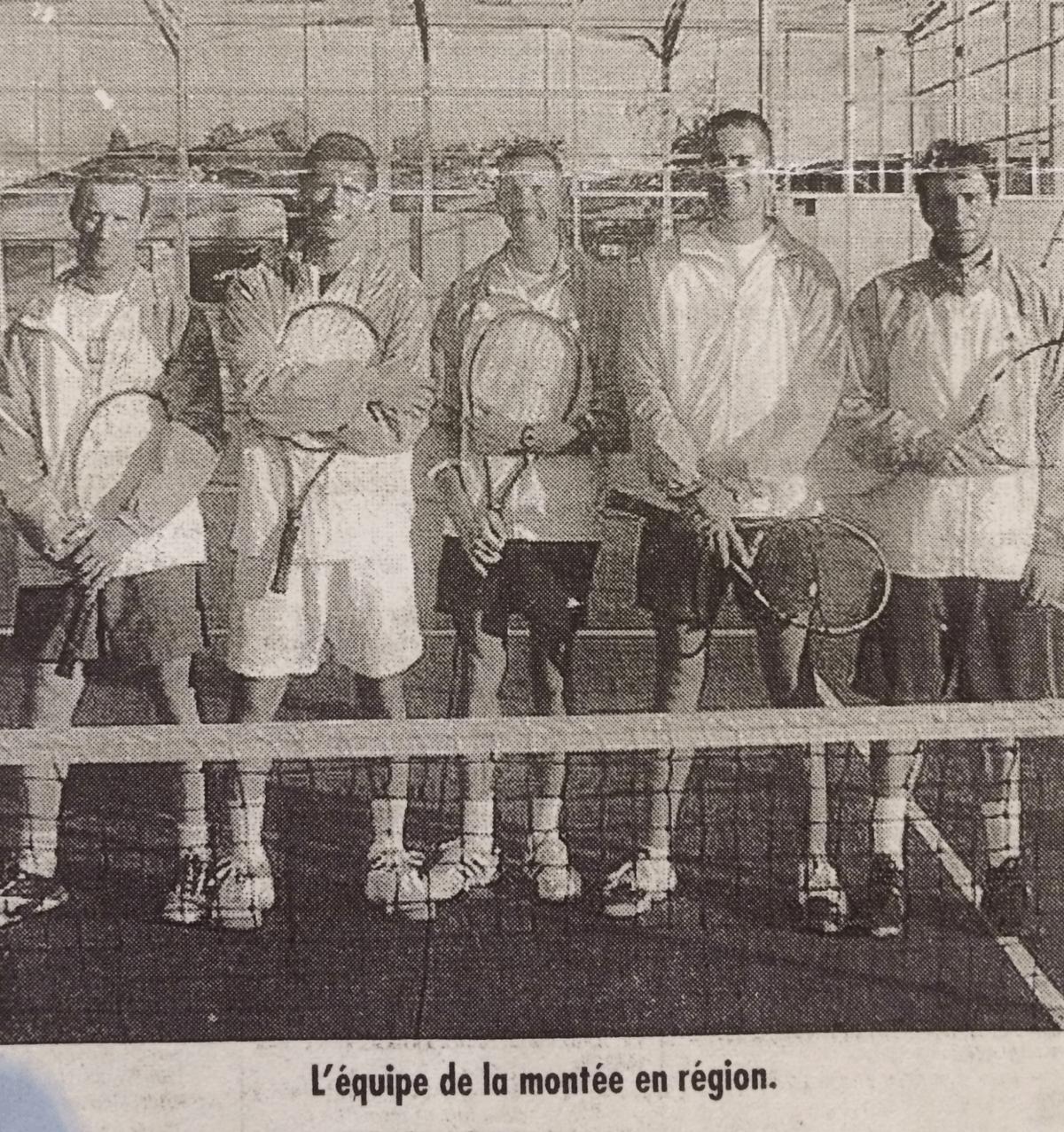 Equipe régionale 2002 - Tennis Club de Pierre Bénite