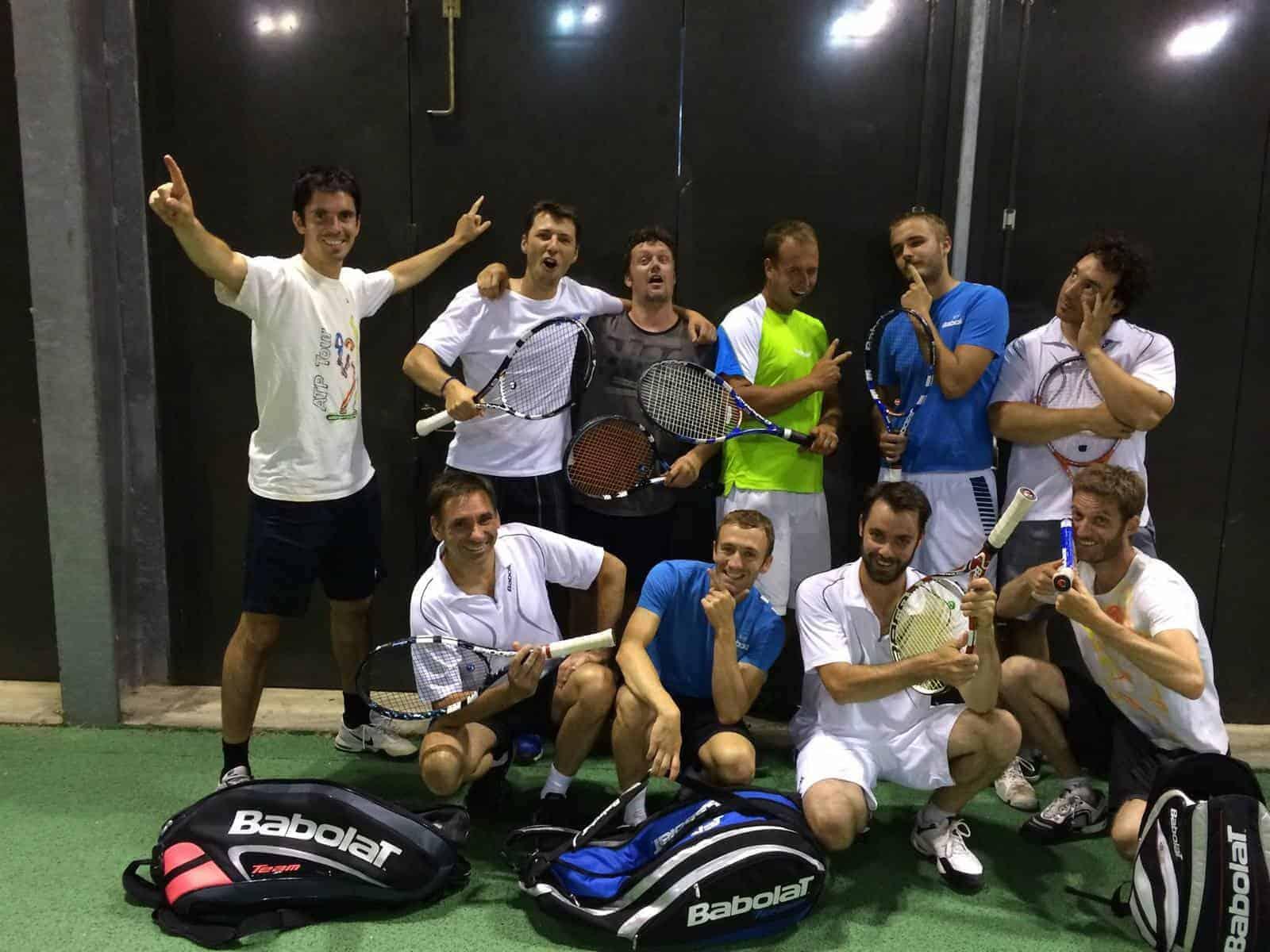 Groupe entrainement 2014 - Tennis Club de Pierre Bénite
